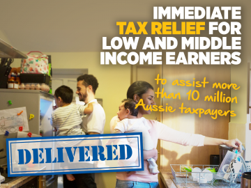 Lower, fairer and simpler taxes delivered in Farrer