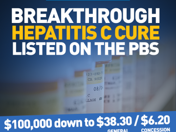 Hep C cures available today for as low as $6.20 a prescription
