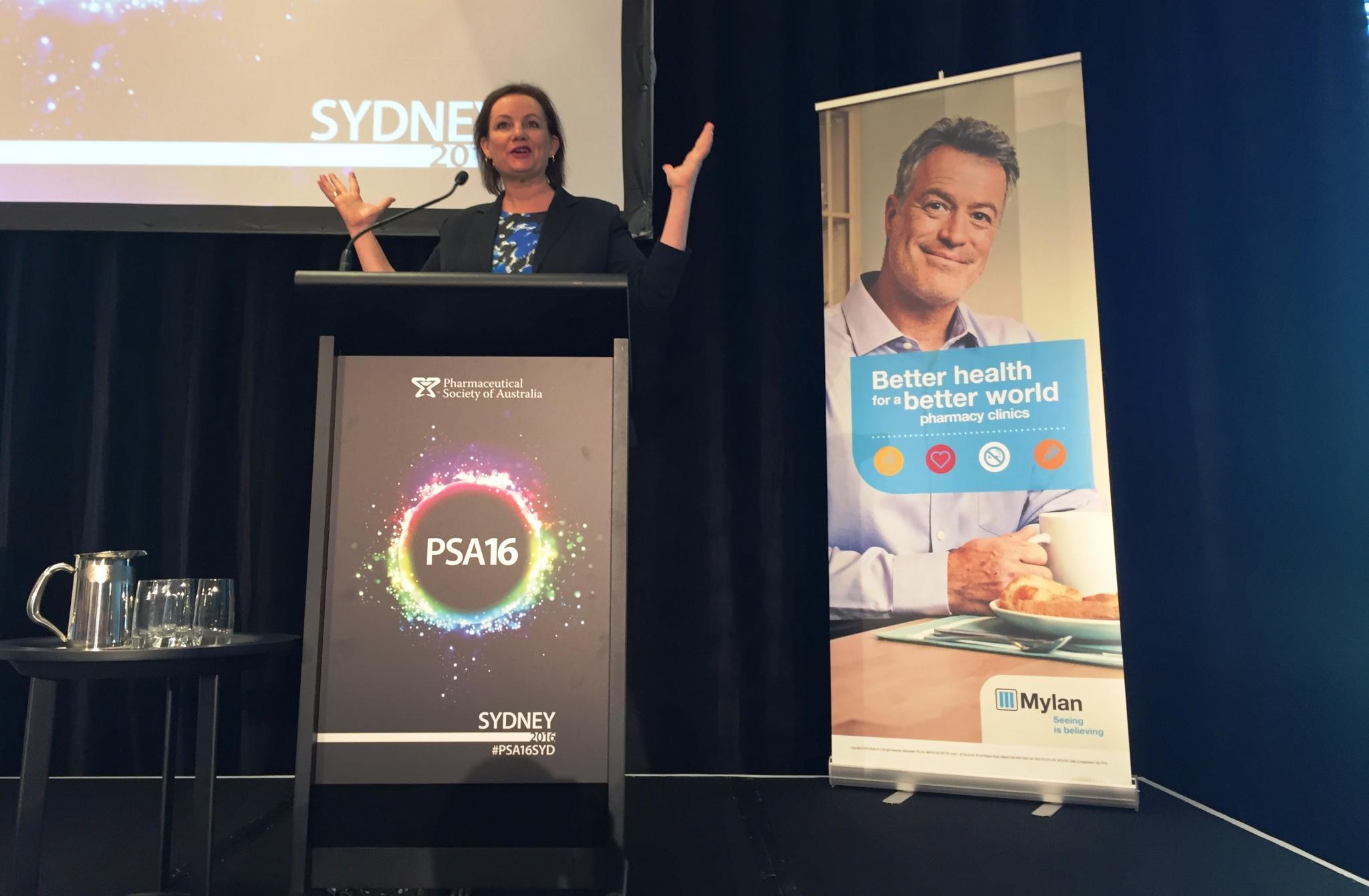 Speech – Pharmaceutical Society of Australia – 29 July 2016
