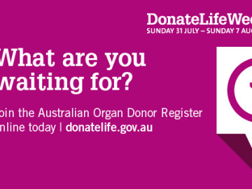 Register online to save lives this DonateLife Week