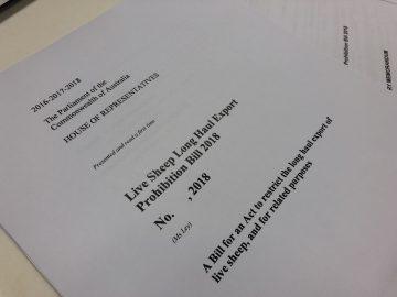Federation Chamber – statement on crossbench bill